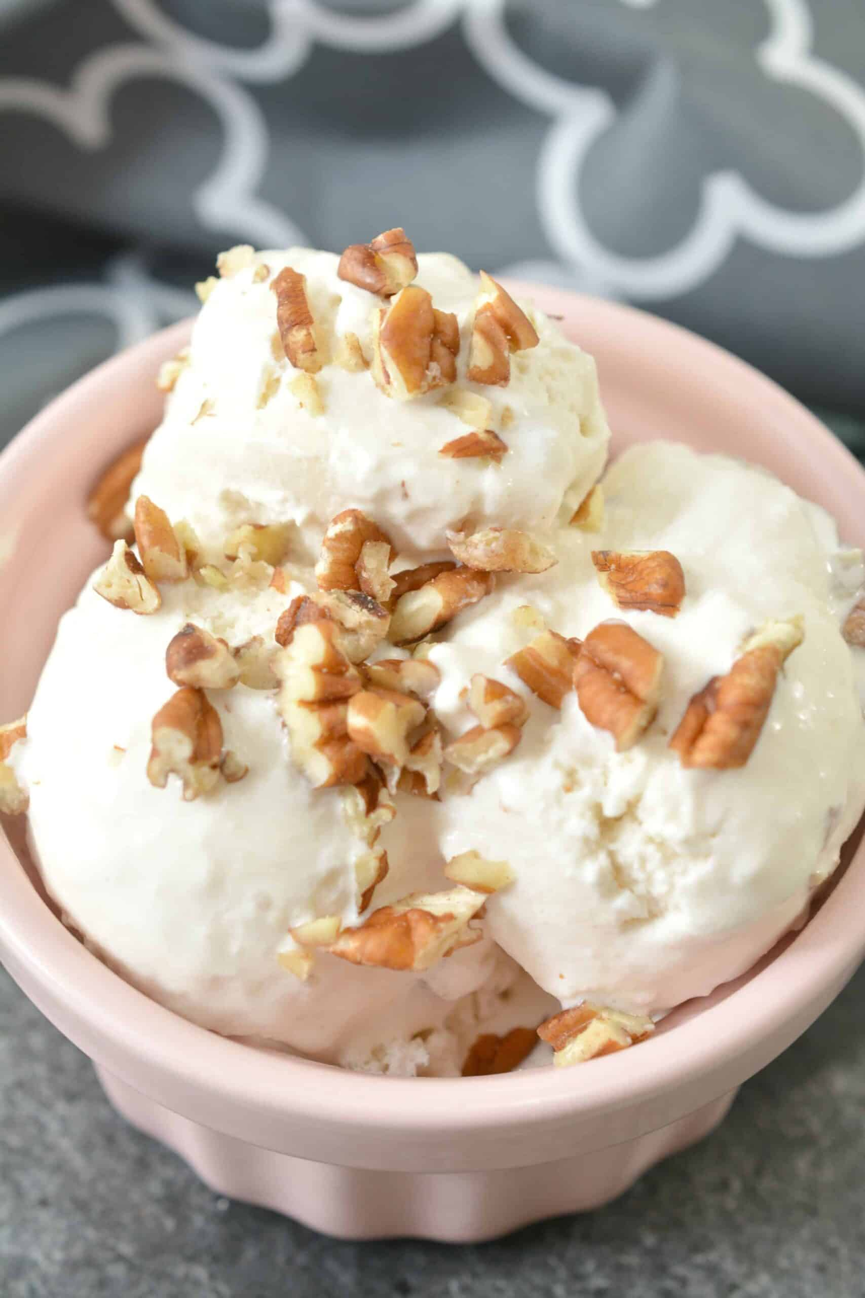 Keto Maple Pecan Ice Cream