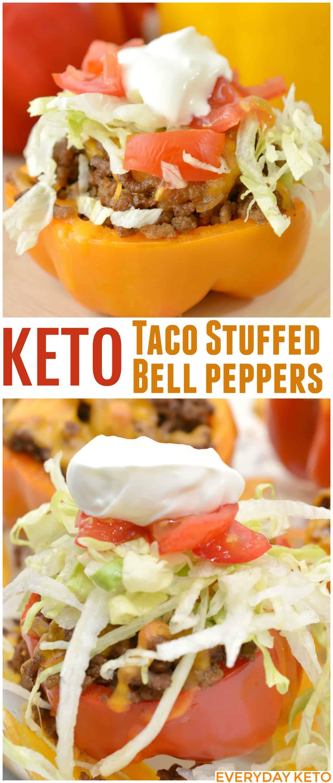 Keto Taco Stuffed Bell Peppers