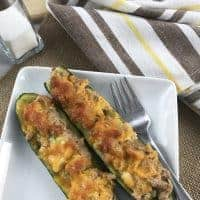 Keto Tuna Melt on Zucchini