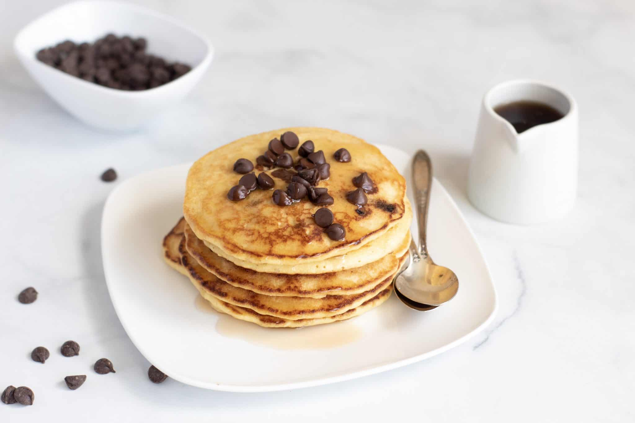 chocolate chip keto pancake