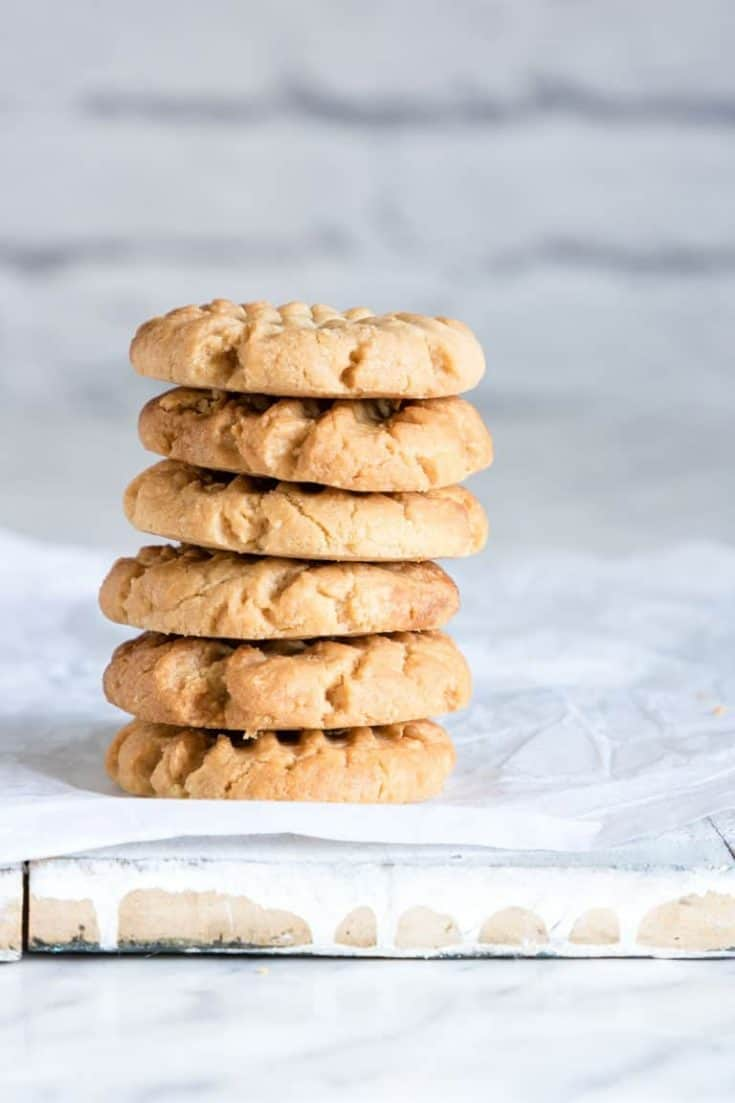 Keto Peanut Butter Cookies {Keto, Low Carb, Gluten-free)