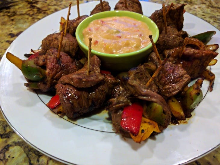Steak Fajita Rollups with Queso - Clean Eating