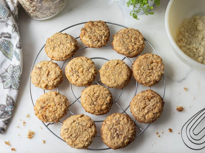 Sugar-free Oatmeal Cookies (Low carb, Keto)
