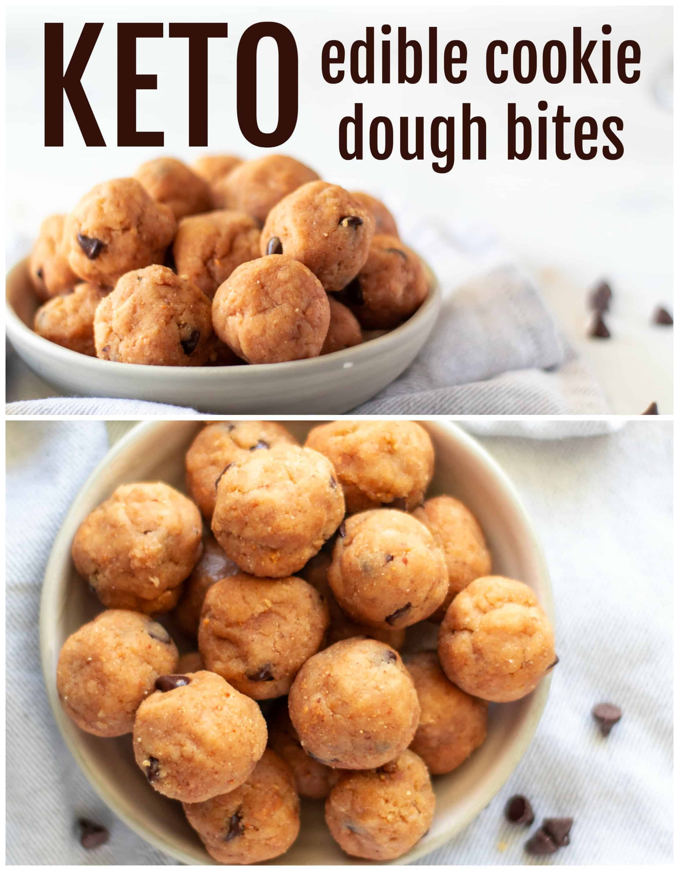 Keto Cookie Dough Fat Bombs