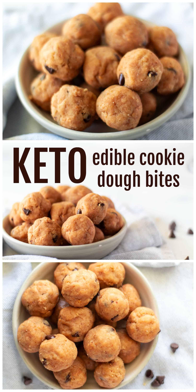 Edible Keto Cookie Dough Bites
