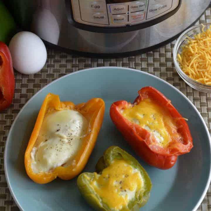 Keto Egg Stuffed Bell Peppers