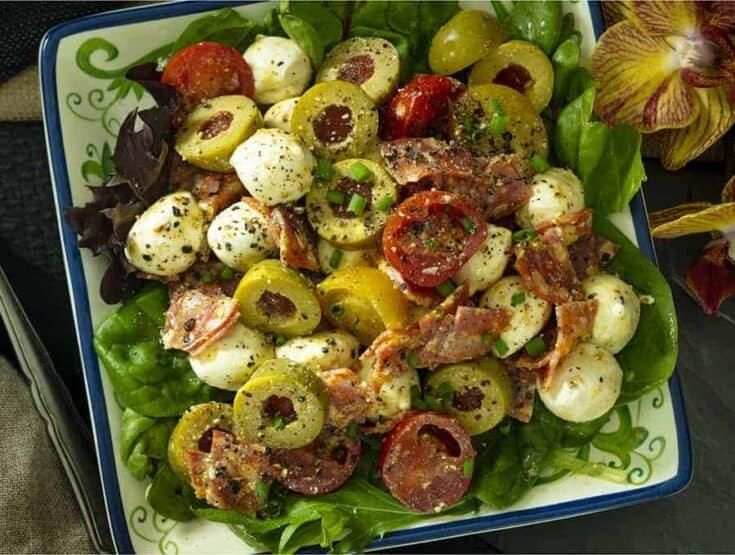 Antipasto Salad with Pesto Vinaigrette