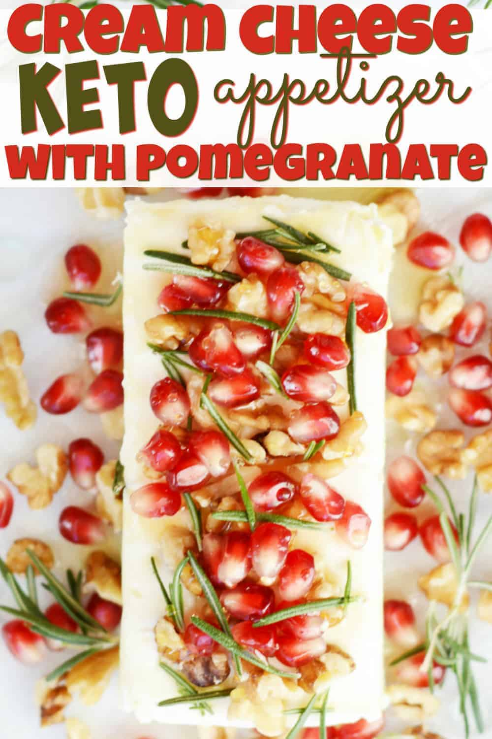 A close up of food, with Cheese and Pomegranate