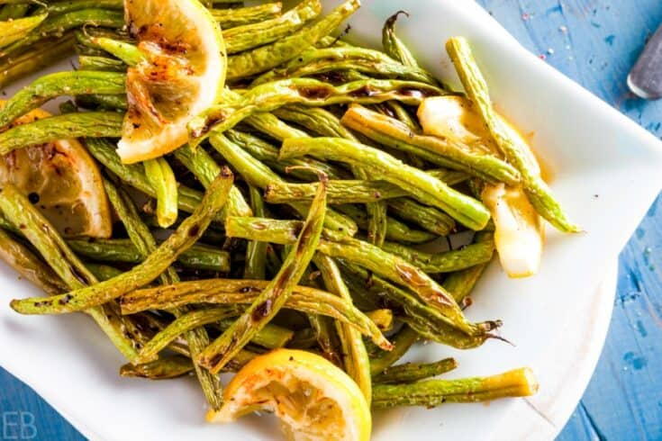 Lemon Roasted Green Beans {Paleo, AIP, GAPS, Keto, Whole30}