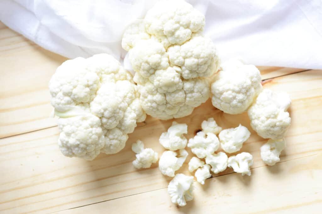 A pile of cauliflower