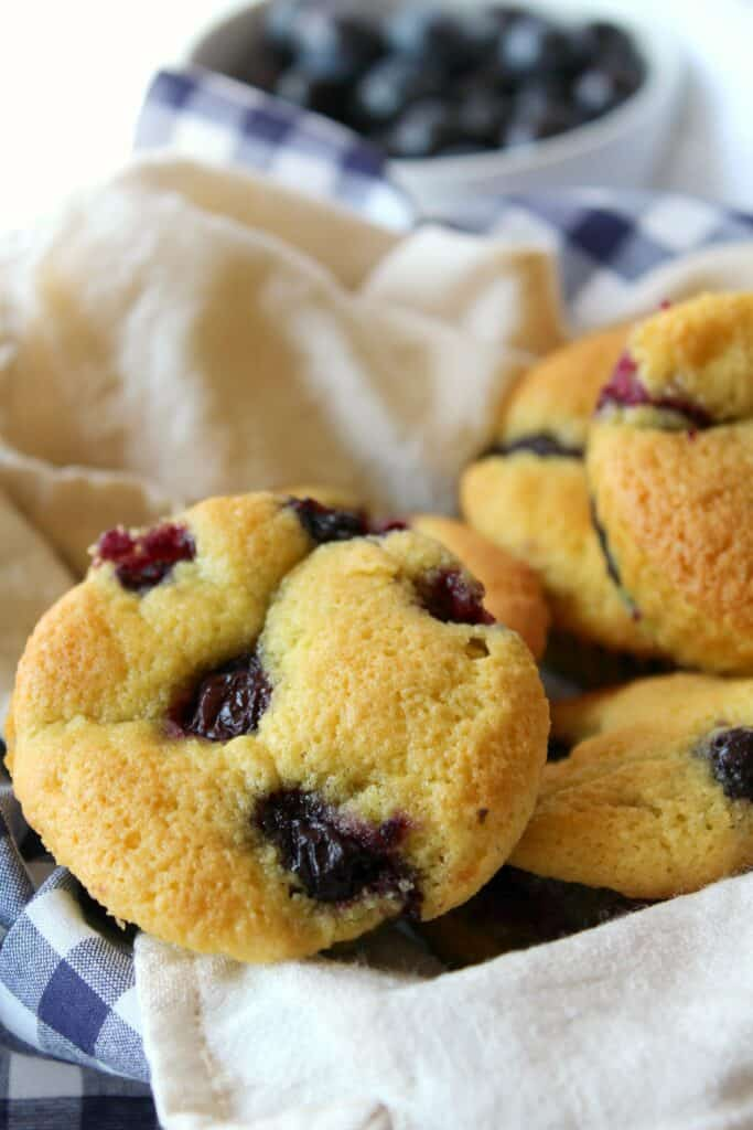 A close up of food, with Muffin and Blueberry